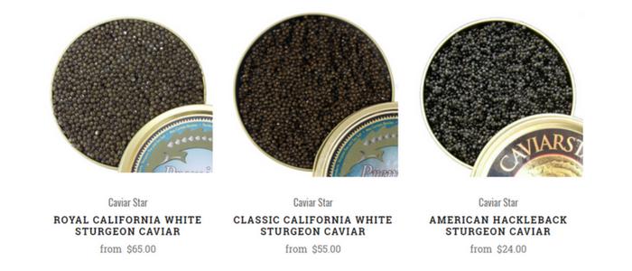 All Caviar in Stock - Caviar Star
